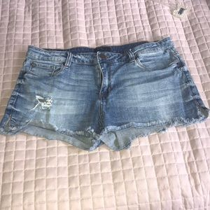 Denim cutoffs by STS